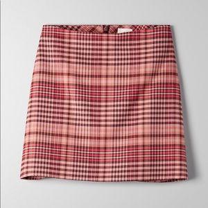 Wilfred Renée Plaid Skirt Pink Tartan